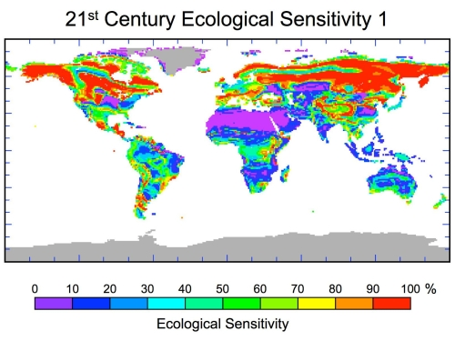 Climate change leads to biomes shifts, therefore ecosystem collapse