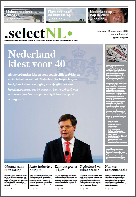 Free Dutch climate newspaper .selectNL.