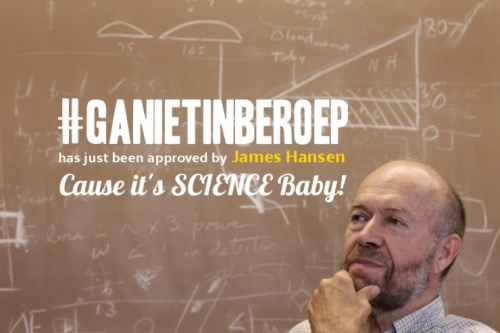 #ganietinberoep climate campaign - even supported by James Hansen!