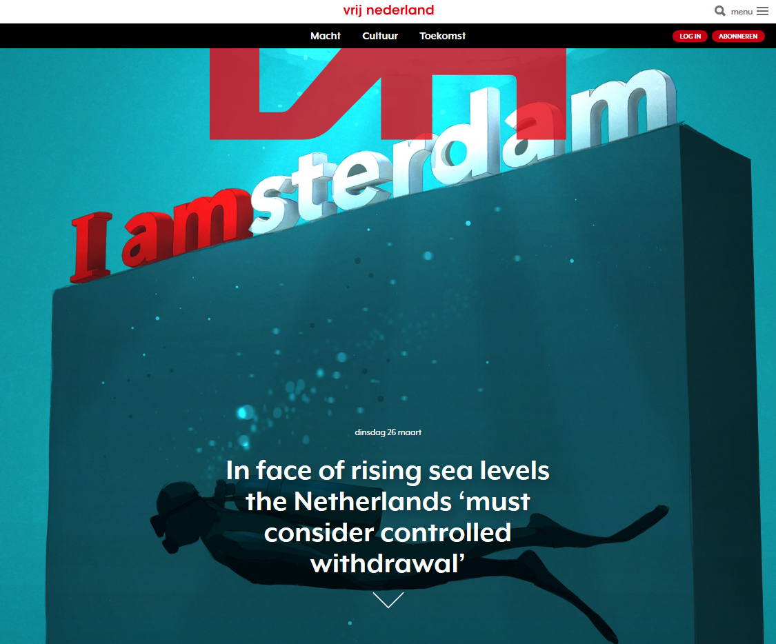 Longread about long-term consequences of sea level rise for the Netherlands